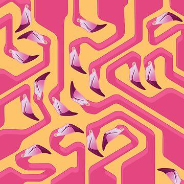 Flamingo Maze by ikerpazstudio