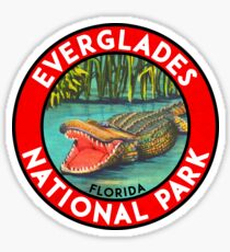 Everglades National Park Florida Alligator Vintage Travel Sticker