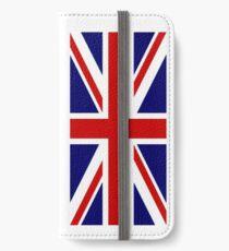 British, Union Jack, PORTRAIT, Flag, 1;2, UK, GB, United Kingdom, Pure & simple  iPhone Wallet/Case/Skin