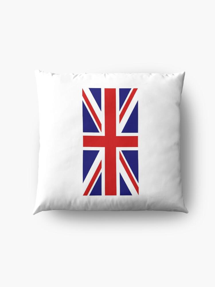 Alternative Ansicht von British, Union Jack, PORTRAIT, Flag, 1;2, UK, GB, United Kingdom, Pure & simple  Bodenkissen