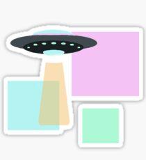 UFO  design - Simplistic  Sticker