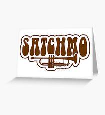 Satchmo trumpet Greeting Card