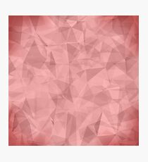 Pink Light Polygonal Mosaic Background.  Business Design Templates. Triangular Geometric Pattern Photographic Print