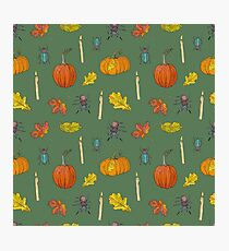 Autumn Halloween pattern Photographic Print