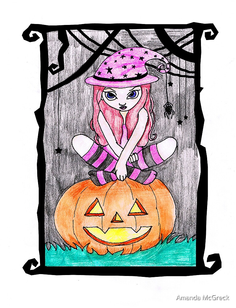Trixi wishes you a Happy Halloween by Amanda McGreck