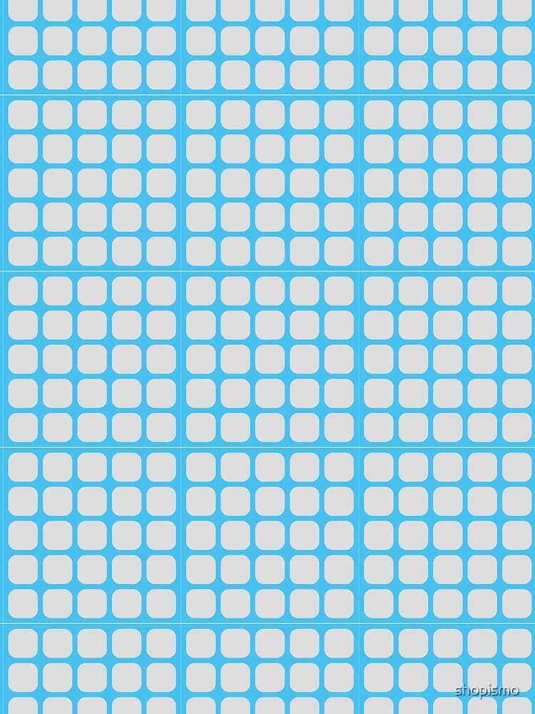 Blue Geometric Pattern by shopismo