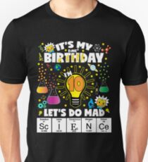 Es ist mein Geburtstag Lassen Sie uns wütendes Wissenschafts-Geburtstags-T-Shirt für Kinder-Alter 10 tun Slim Fit T-Shirt