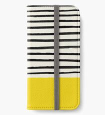 Sonnenschein x Streifen iPhone Flip-Case/Hülle/Klebefolie