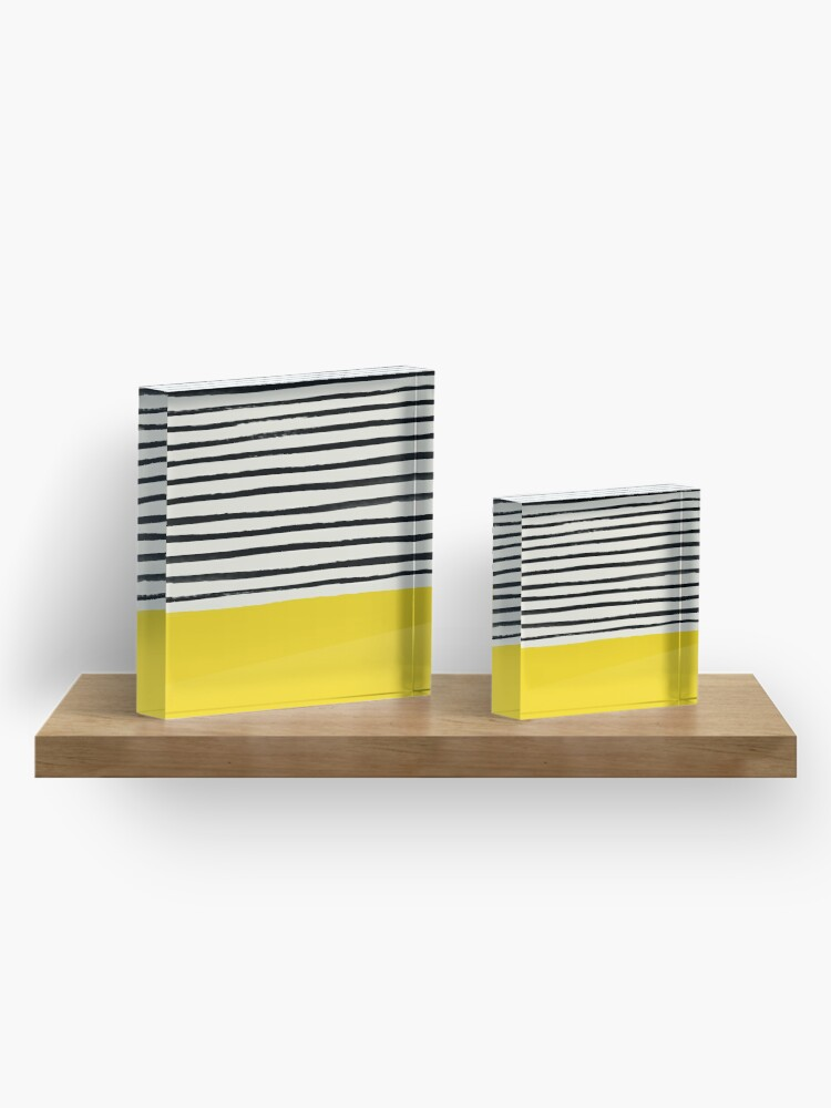 Alternate view of Sunshine x Stripes Acrylic Block