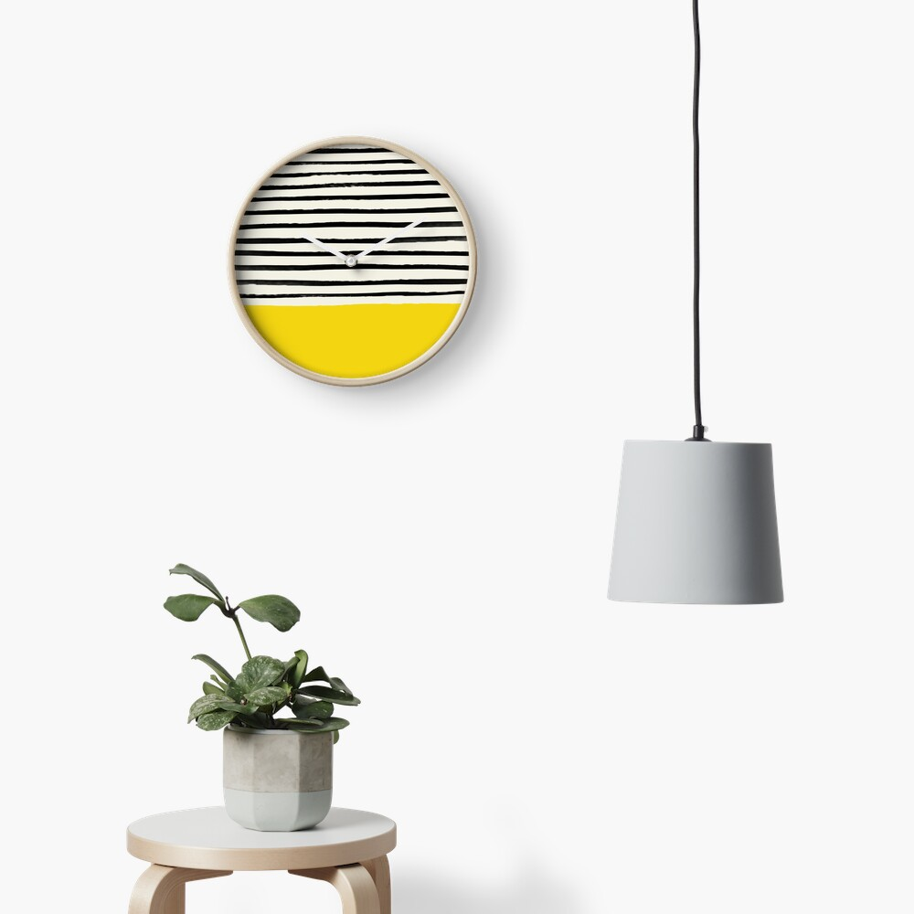 Sunshine x Stripes Clock