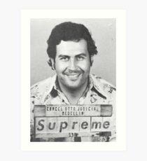 Pablo Escobar Supreme Art Print