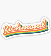 Richmond   Retro Rainbow Sticker