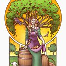 Iðunn- Norse Goddess of Apples and Youth by Dani Kaulakis