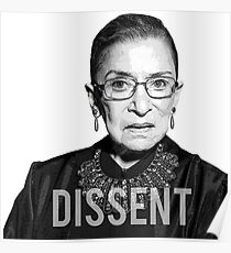Ruth Bader Ginsburg RBG - DISSENT Collar Poster
