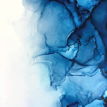 Blue Tides - Alcohol Ink Painting by LSchulz19