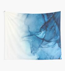 Blue Tides - Alcohol Ink Painting Wall Tapestry