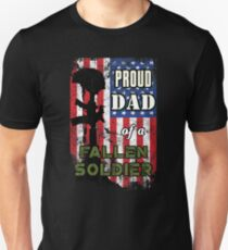 Proud Dad of a Fallen Soldier Veterans Day Shirt Unisex T-Shirt
