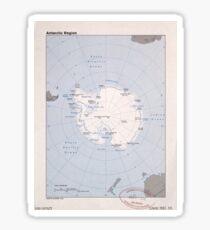 Map of the Antarctic Region (1982) Sticker
