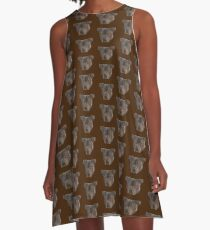 Max the Staffordshire Bull Terrier A-Line Dress