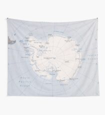 Map of the Antarctic Region (1982) Wall Tapestry