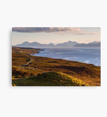 Isle of Skye from the Applecross Peninsula Canvas Print