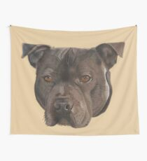 Max the Staffordshire Bull Terrier Wall Tapestry