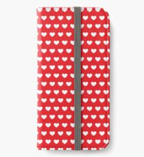 Polka Hearts Red iPhone Wallet/Case/Skin