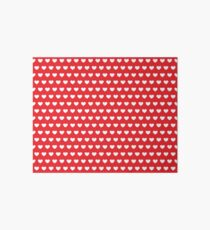 Polka Hearts Red Art Board