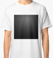 Metallic Perforated Texture. Dark Carbon Pattern. Fiber Pattern Classic T-Shirt