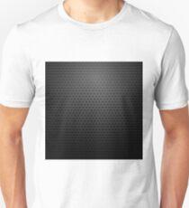 Metallic Perforated Texture. Dark Carbon Pattern. Fiber Pattern T-Shirt