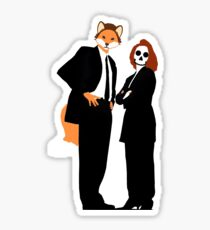 Fox and Scully - The X Files Sticker