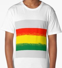 National Grunge Flag of Bolivia Isolated. Symbol of Bolivian Independence Long T-Shirt