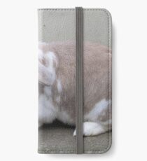 French lop rabbit pale cream coloured fur iPhone Wallet