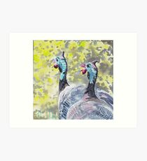 Guinea Fowl out and about Art Print