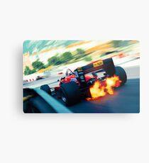 F1 '85 Monaco Ferrari Stefan Johansson Metal Print