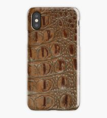 2D Photo-sampled Faux-Crocodile Leather-effect iPhone Case/Skin