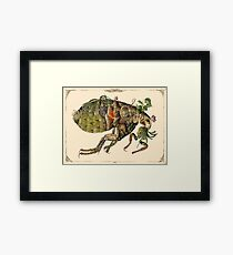 Whimsical Pop Botanical Flea #CreateArtHistory Framed Print