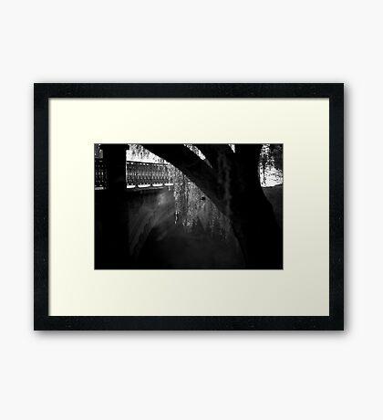 Bridge Fog Framed Print