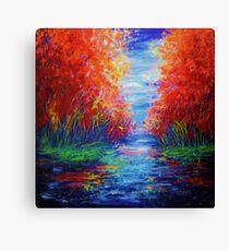 Lake View by OLena Art Canvas Print