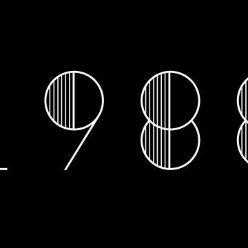Vintage Paris 1988 White Numbers Typography Birth Date by Birthdates