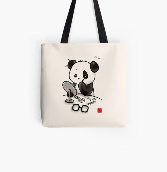 Panda Make-up Allover-Print Tote Bag