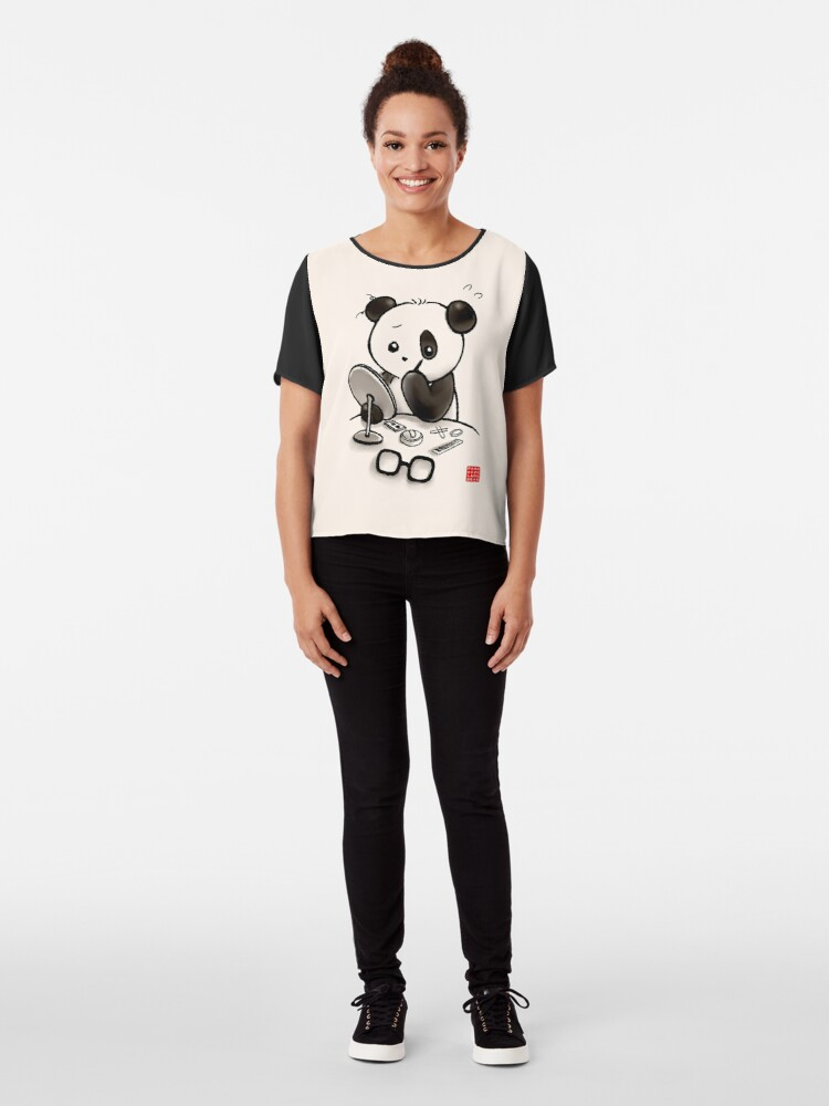 Alternate view of Panda Makeup Chiffon Top