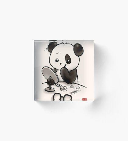 Panda Makeup Acrylic Block