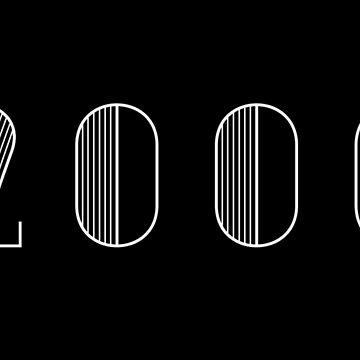 Vintage Paris Birthday 2000 White Text Typography Birth Date by Birthdates