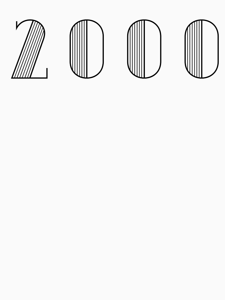 Vintage Paris Birthday 2000 Black Numbers Typography Birth Date by Birthdates