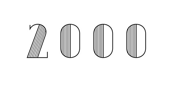 Vintage Paris Birthday 2000 Black Numbers Typography Birth Date by Birthdates