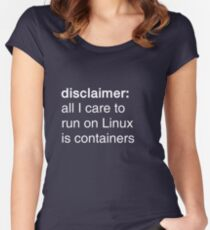 linux containers (dark backgrounds) Women's Fitted Scoop T-Shirt