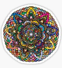 colorful floral mandala Sticker
