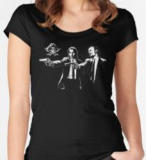 Black Sails Mashup Women's Fitted Scoop T-Shirt