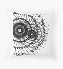 Abstract line art 101917 Throw Pillow
